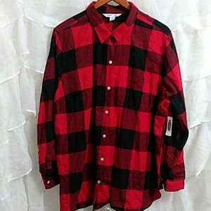 NWT OLD NAVY Flannel Button Down Shirt Q10